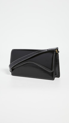 Rylan Black with Ivory Stitch Baguette Bag