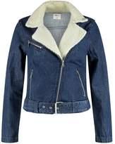 Gap MOTO SHERPA RUSTLER WASH Denim jacket dark indigo