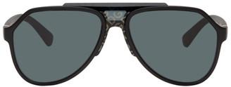 Dolce & Gabbana Black Matte Aviator Sunglasses