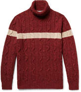 Brunello Cucinelli - Cable-knit Virgin Wool-blend Rollneck Sweater