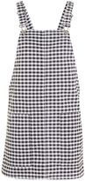 Topshop MOTO Gingham Pinafore Dress