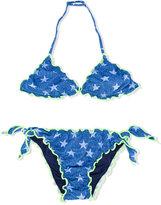 Mc2 Saint Barth Kids - star print bikini - kids - Spandex/Elastane/Polyimide - 14 yrs
