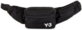 Yohji Yamamoto Sling Bag in Black & Core White | FWRD