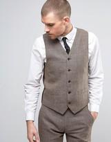 Gianni Feraud Heritage Check Pow Slim Fit Waistcoat