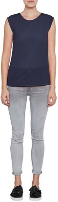 French Connection Classic Polly Plains Capped Sleeve T-Shirt