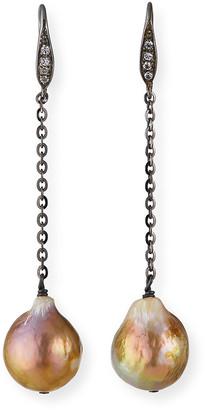 Margo Morrison Sapphire-Hook Pearl-Drop Earrings