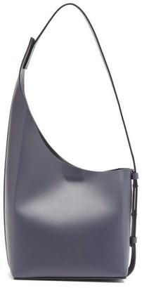 Aesther Ekme Demi Lune Leather Bucket Bag - Navy