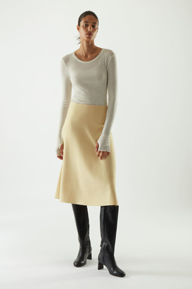 Cos Knitted Wool Mix A-Line Skirt