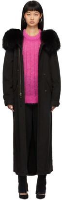 Mr & Mrs Italy SSENSE Exclusive Black Fur Long Jazzy Coat