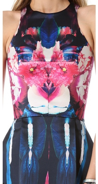 Nicholas Melted Floral Peplum Top
