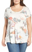Lucky Brand Plus Size Women's Crazy Butterfly Tee
