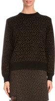 Givenchy Star-Print Sweatshirt W/Contrast Trim, Black