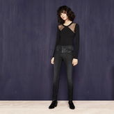Maje Slim-fit jeans in imitation leather