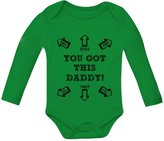 TeeStars You Got This Daddy Funny Bodysuit Father's Day Gift Cute Baby Long Sleeve Onesie 6M