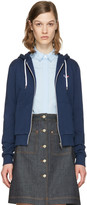 MAISON KITSUNÉ Blue Fox Patch Zip-up Hoodie