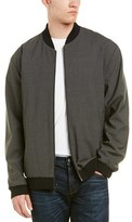 Vince Wool-blend Reversible Bomber Jacket.