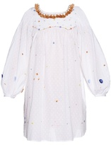 Thierry Colson Poppy Garden-embroidered cotton dress