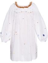 Thierry Colson Poppy Garden-embroidered cotton dress
