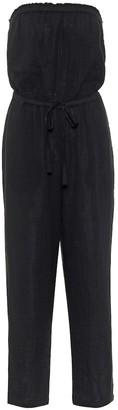 Velvet Georgie strapless cotton jumpsuit