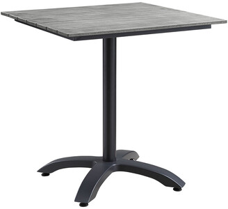 Modway Maine 28In Outdoor Patio Aluminum Dining Table
