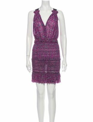 Isabel Marant Silk Mini Dress Purple