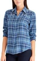 Chaps Petite Plaid Button-Up Shirt