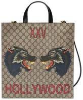 Gucci Men's XXV Wolf Head GG Supreme Tote Bag