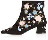 Topshop Blossom floral ankle boots
