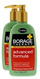 Shikai Borage Therapy - Natural Advanced Dry Skin Lotion, Contains Powdered Oatmeal, Shea Butter, Borage Oil and Rooibos Extract (Fragrance-Free, 8 Ounces, Pack of 2)