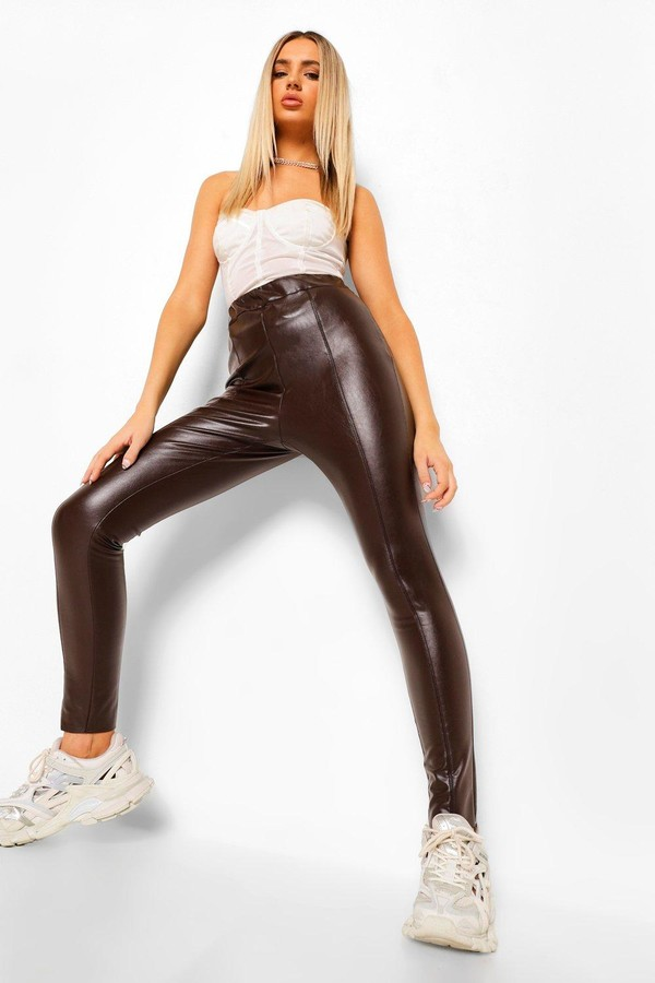 Thumbnail for your product : boohoo Premium Sculpting Faux Leather Pants
