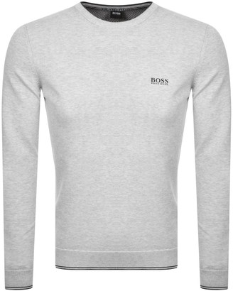 BOSS Athleisure Rimex Knitted Jumper Grey