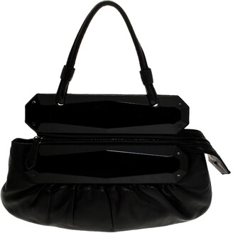 Fendi Black Leather To You Convertible Clutch