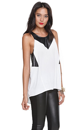 Kylie Minogue Kendall & Kylie Fabric Mix Tank