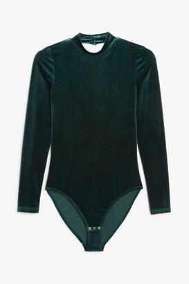 Monki Velvet bodysuit