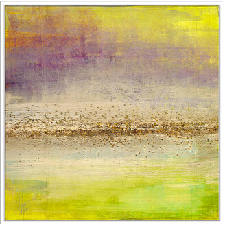 Jonathan Bass Studio Refraction Horizon 1, Decorative Framed Hand Embellished Canvas