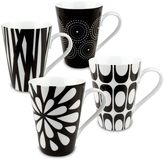 Konitz 4-pc. Black & White Mug Set