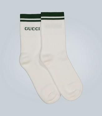 Gucci Short cotton stretch socks