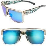 adidas Women's 3Matic 60Mm Sunglasses - Black Shiny/ Blue Mirror