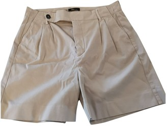 BEIGE Non Signe / Unsigned Cotton Shorts for Women