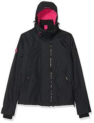 Superdry Women's UK Sizing Arctic Hooded POP Zip UP Fleece Lined Multi Pocket SD-Windcheater Jacket