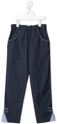 Familiar Denim Tapered Trousers