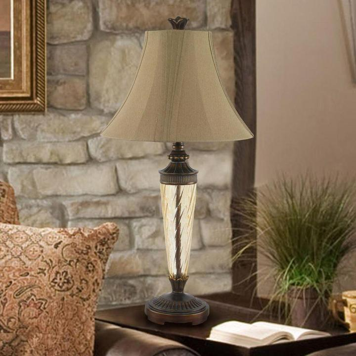 Waterford Design Fidelity 28 in. Restoration Bronze Table Lamp