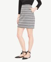 Ann Taylor Petite Textured Stripe Skirt