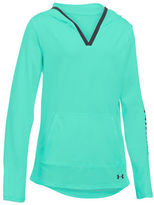 Under Armour Girls 7-16 Solid V-Neck Hoodie