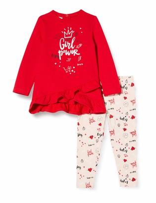 Brums Baby Girls' Tuta 2pz:Maxi Top Felpina+Leggings Clothing Set