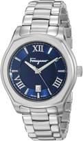 Salvatore Ferragamo Men's FQ1960015 Lungarno Analog Display Quartz Silver Watch