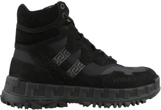 Versace Lace-Up Hiking Boots