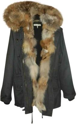 Sandro Charcoal Wool Coat for Women