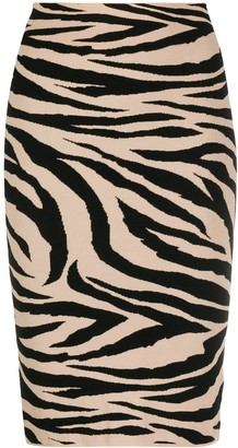 Laneus Tiger Print Skirt