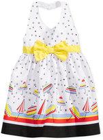 Blueberi Boulevard Umbrella-Print Halter Dress, Baby Girls (0-24 months)